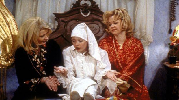 Sabrina (Melissa Joan Hart, M.) hat einen Job als Sandmännchen gefunden. Doch...