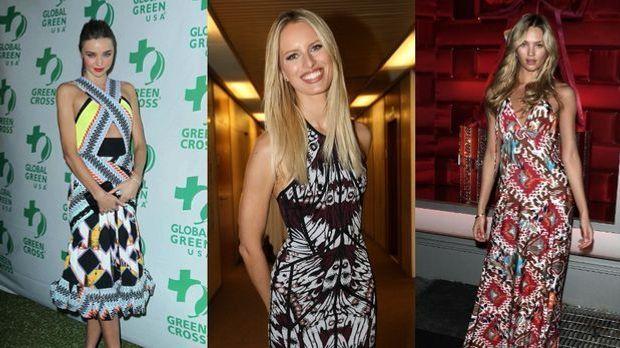 Die Models Miranda Kerr, Karolina Kurkova und Candice Swanepoel lieben den Et...