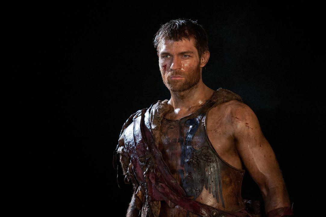 Während seine Freunde die Siege über die Römer ausgiebig feiern, ist sich Spartacus (Liam McIntyre) bewusst, dass die Feinde noch einiges in petto h... - Bildquelle: 2013 Starz Entertainment, LLC.  All Rights Reserved