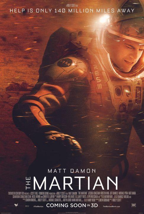 DER MARSIANER - RETTET MARK WATNEY - Plakat - Bildquelle: 2015 Twentieth Century Fox Film Corporation.  All rights reserved.