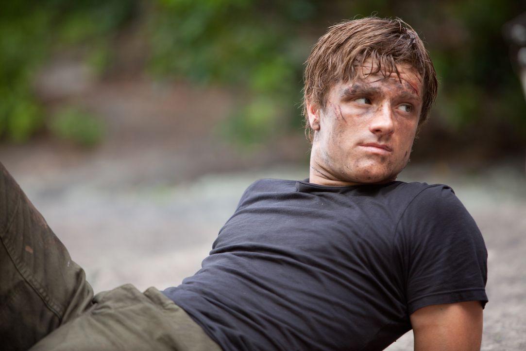 Kurz bevor die perfiden Hungerspiele beginnen, gesteht Peeta (Josh Hutcherson) Katniss seine Liebe. Doch das Kapitol macht sie zu Todfeinden ... - Bildquelle: Studiocanal GmbH