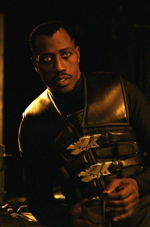 Startet einen gnadenlosen Feldzug gegen das abgrundtief Böse: Vampirjäger Blade (Wesley Snipes) ... - Bildquelle: New Line Cinema