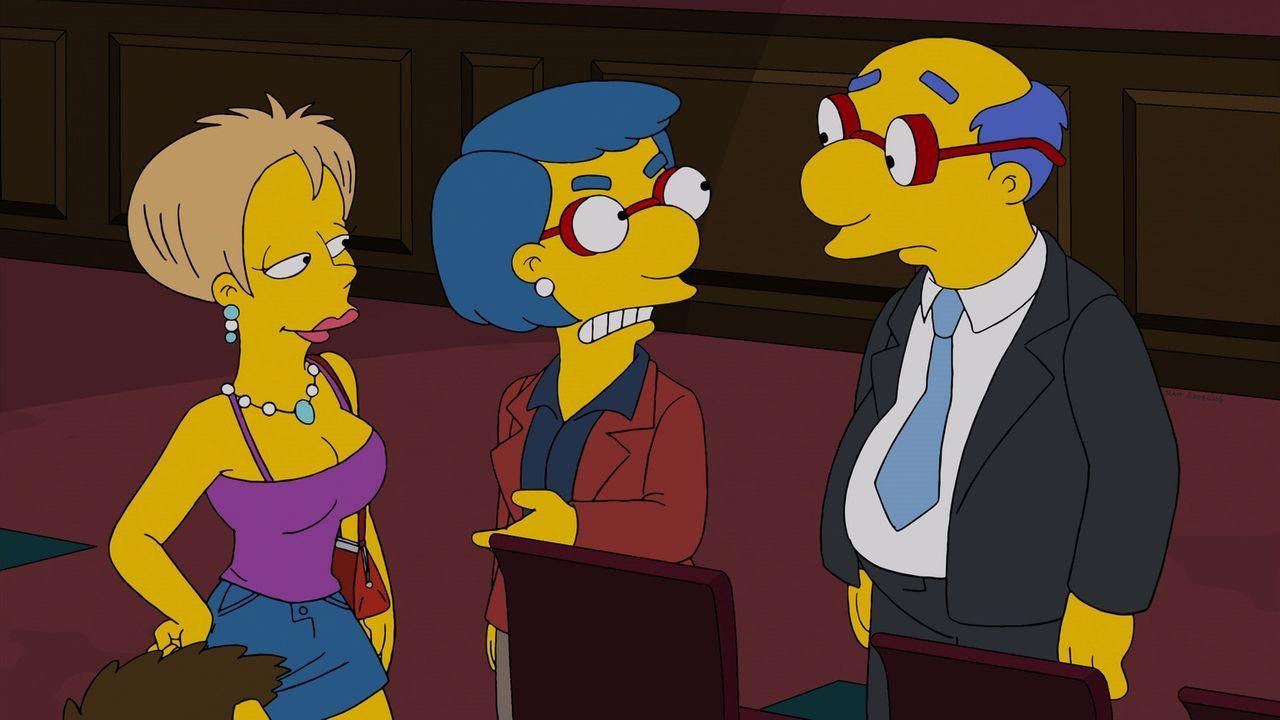 Das Bild, das Kirk (r.) und Luann van Houten (r.) für einen Schnäppchenpreis an die Simpsons verkauft haben, erweist sich als Werk eines bedeutenden... - Bildquelle: 2013 Twentieth Century Fox Film Corporation. All rights reserved.