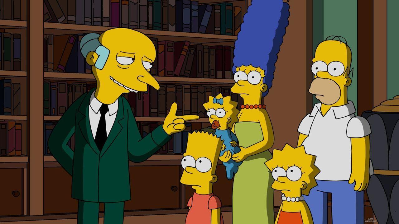 Nachdem ganz Springfield von einem Feuer zerstört wurde, bitten die Simpsons Mr. Burns (l.) um Hilfe. Wird dieser die Stadt wiederaufbauen? - Bildquelle: 2016-2017 Fox and its related entities. All rights reserved.