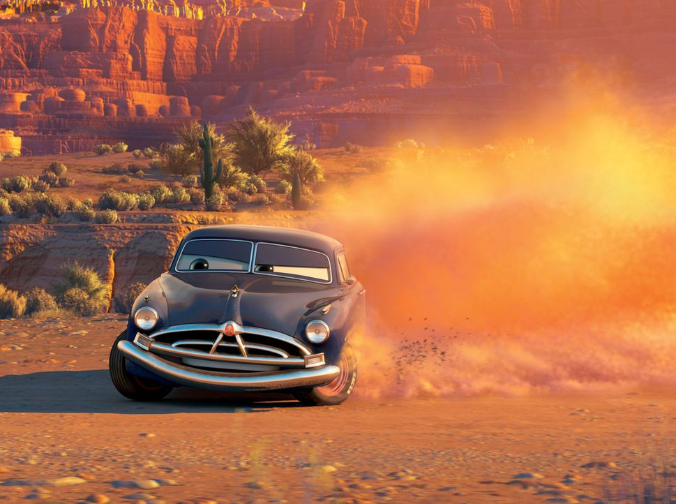 Als der kesse Rennwagen Lightning die komplette Hauptstraße einer kleinen Stadt umpflügt, wird er verhaftet. Der Bürgermeister von Radiator Sprin... - Bildquelle: Walt Disney Pictures