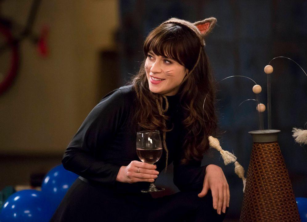 Obwohl Jess (Zooey Deschanel) mit der Trennung von Nick nicht wirklich klarkommt, spielt sie die Glückliche ... - Bildquelle: 2014 Twentieth Century Fox Film Corporation. All rights reserved.