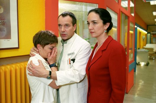 Für alle Fälle Stefanie - Betroffen erfährt Stephanie (Claudia Schmutzler, l....