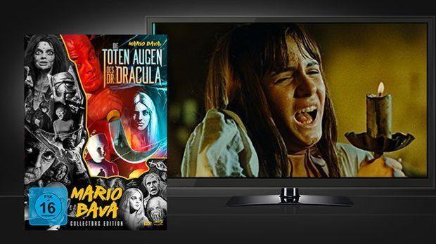 Die toten Augen des Dr. Dracula - Blu-ray Cover und Szene