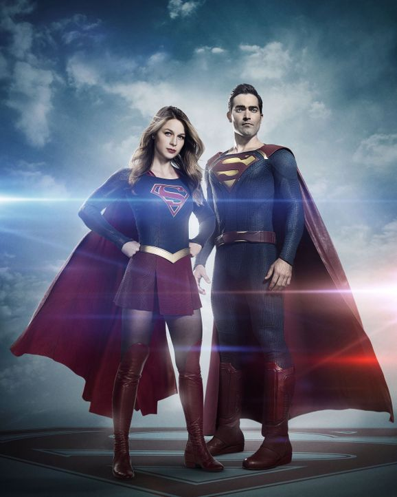 (2. Staffel) - Kämpfen für Gerechtigkeit: Supergirl (Melissa Benoist, l.) und Superman (Tyler Hoechlin, r.) - Bildquelle: 2016 Warner Bros. Entertainment, Inc.