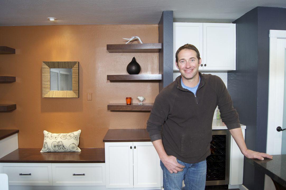 Wer Josh Temples (Foto) Hilfe annimmt, erhält innerhalb von 3 Tagen einen komplett neu gestalteten Raum. Allerdings muss ihm der Kunde blind vertrau... - Bildquelle: 2012, DIY Network/Scripps Networks, LLC.  All Rights Reserved.