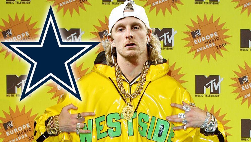 Ist unter die Hip-Hopper gegangen: Cowboys-Receiver Cole Beasley. - Bildquelle: gettyimages / Collage