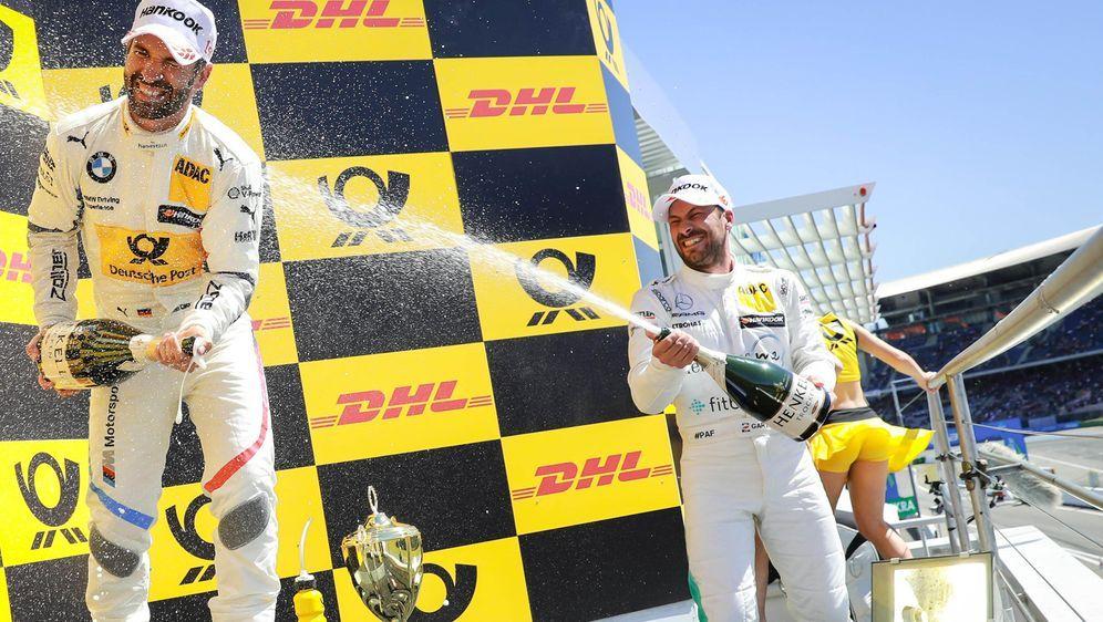Gastgeber bei der Champions-Cam: Timo Glock und Gary Paffett (re.). - Bildquelle: Gruppe C / Hoch Zwei