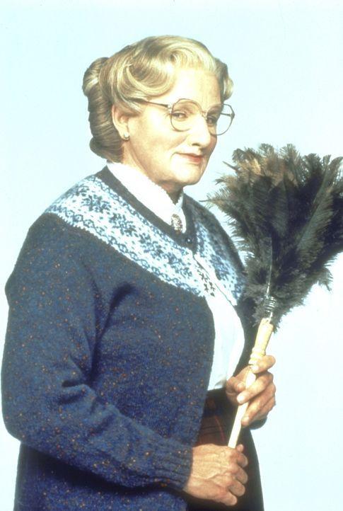 Verkleidet als Kindermädchen nimmt Daniel Hillard (Robin Williams) eine Stellung im Haushalt seiner Ex-Frau an, um seinen Kindern nahe zu sein. - Bildquelle: 20th Century Fox