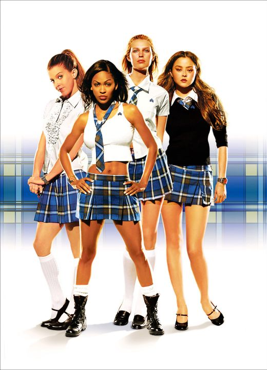 Spy Girls - D.E.B.S.- Artwork: Amy (Sara Foster, 2.v.r.), Max (Meagan Good, 2.v.l.), Dominique (Devon Aoki, r.) und Janet (Jill Richie, l.) ... - Bildquelle: Copyright   2005 Screen Gems, Inc. All Rights Reserved.