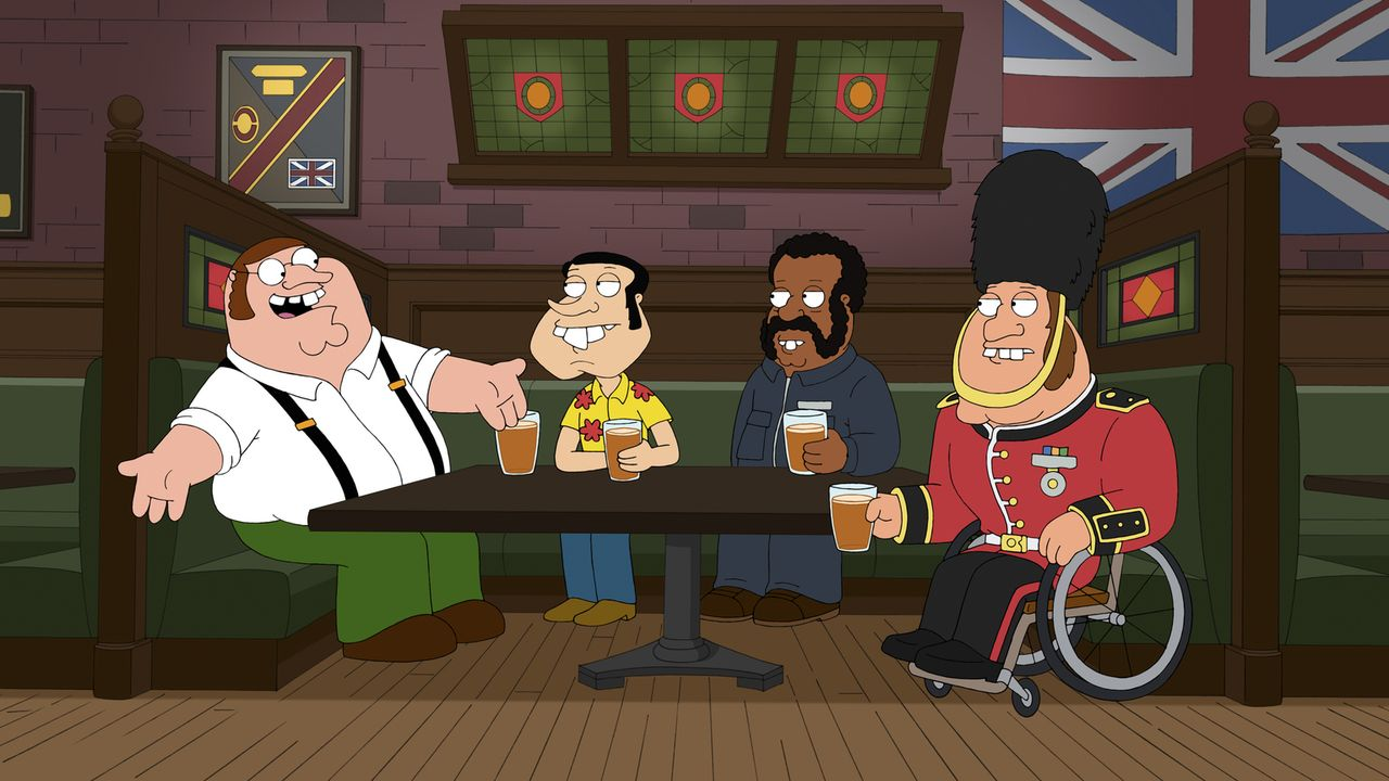"Diese Folge liefert Antworten auf wichtige Fan-Fragen: Wie sieht die britische Originalversion von ""Family Guy"" aus? - Bildquelle: 2011 Twentieth Century Fox Film Corporation. All rights reserved."