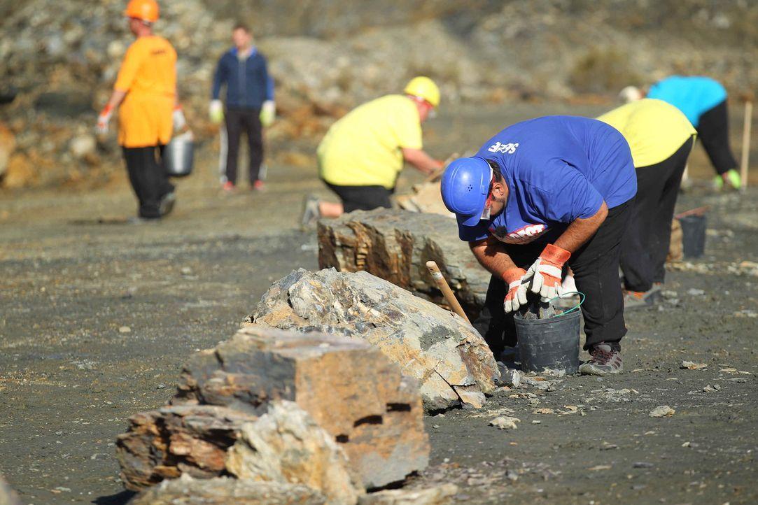 Eine schwere Aufgabe wartet im Steinbruch auf die Kandidaten ... - Bildquelle: Enrique Cano SAT.1