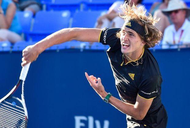Tennisprofi Alexander Zverev steht im Viertelfinale