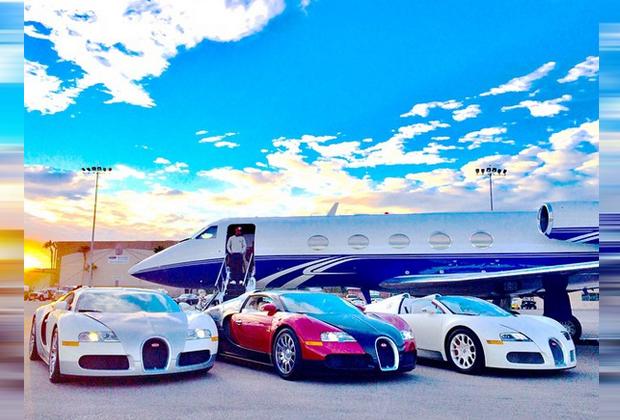 Mayweather mag wohl Bugattis - Bildquelle: Instagram/Mayweather