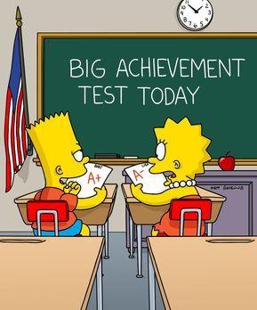 Die Simpsons - Bart (l.) schneidet bei einem Grundschulleistungstest so schle...