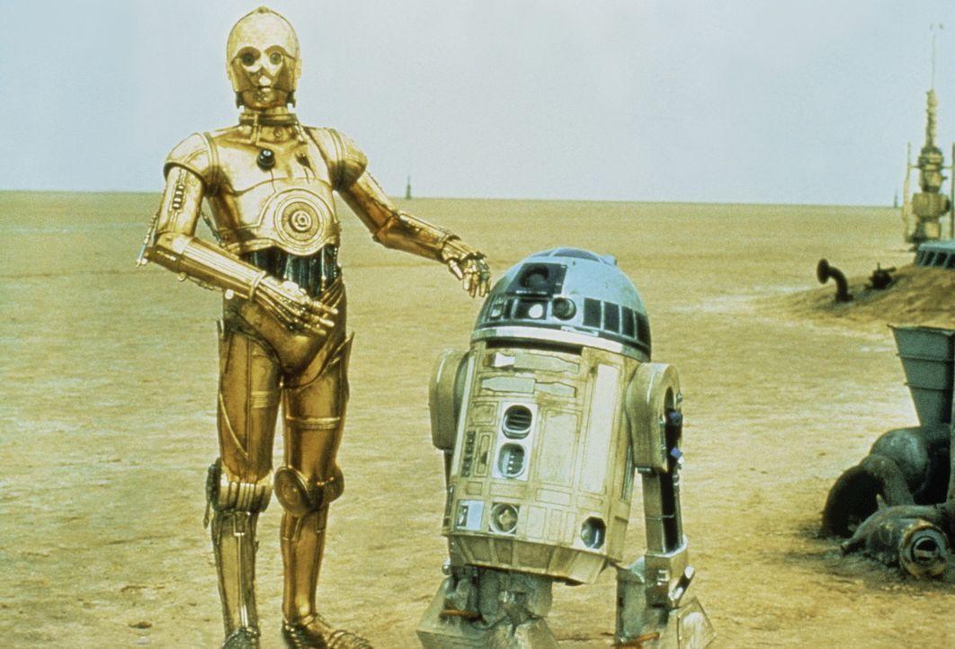 Im kosmischen Kampf gegen das Böse setzen R2-D2 (Kenny Baker, r.) und C-3PO (Anthony Daniels, l.) ihre besonderen Waffen ein ... - Bildquelle: Lucasfilm LTD. & TM. All Rights Reserved.