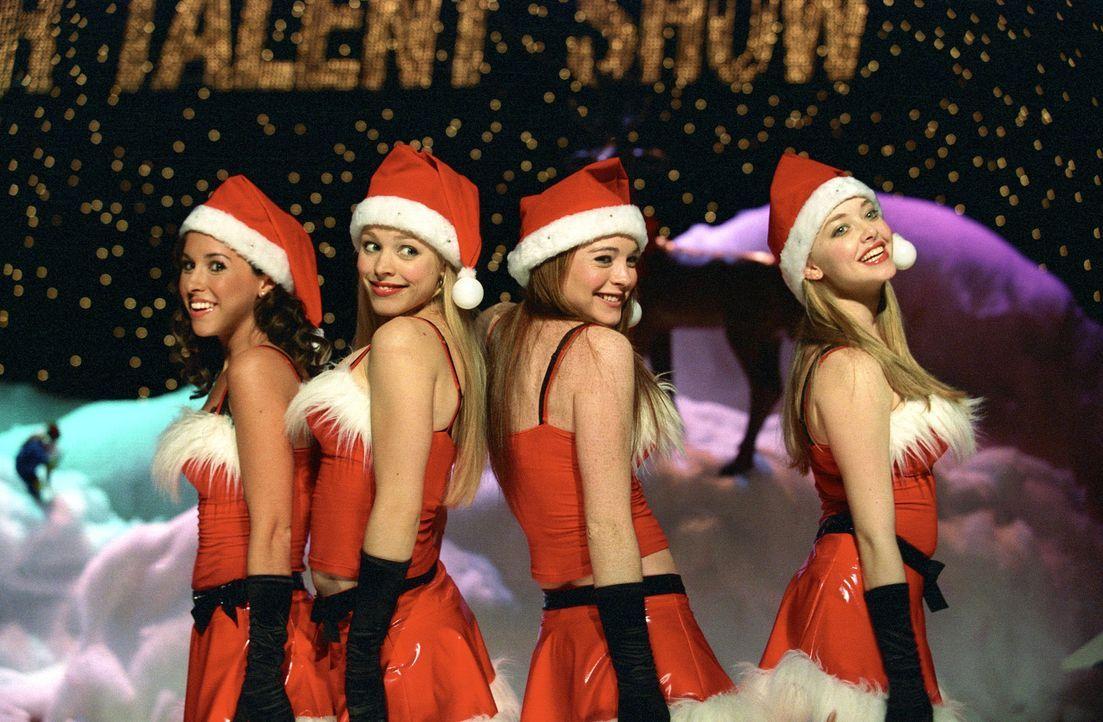 Noch sind (v.l.n.r.) Gretchen (Lacey Chabert), Karen (Amanda Seyfried), Cady (Lindsey Lohan) und Regina (Rachel McAdams) die besten Freundinnen. Doc... - Bildquelle: Paramount Pictures
