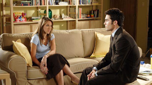 Weil Martin (Tyler Hoechlin, r.) Sandy (Haylie Duff, l.) in der Schwangerscha...