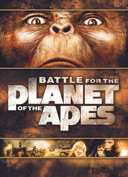 Battle for the Planet of the Apes - Plakatmotiv - Bildquelle: 1973 Twentieth Century Fox Film Corporation.