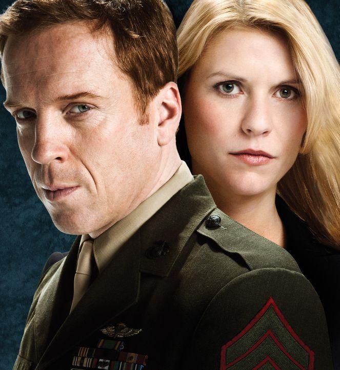 (1.Staffel) - Die Wahrung der Sicherheit Amerikas ist Carrie Mathison (Claire Danes, r.) Aufgabe. Diese sieht sie durch den Marine Sergeant Nicholas... - Bildquelle: 20th Century Fox International Television