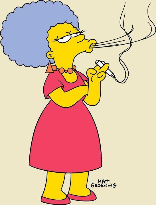 (14. Staffel) - Patty Bouvier ist Angestellte in der Führerscheinabteilung, liebt MacGyver und ihre Zigaretten ... - Bildquelle: und TM Twentieth Century Fox Film Corporation - Alle Rechte vorbehalten