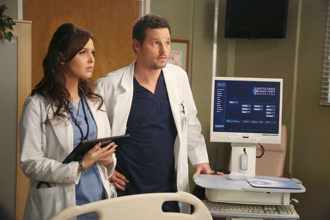 Dr. Alex Karev (Justin Chambers, r.) und Dr. Jo Wilson (Camilla Luddington, l.) verstehen sich nicht nur privat gut. Auch in der Klinik müssen sie H... - Bildquelle: ABC Studios