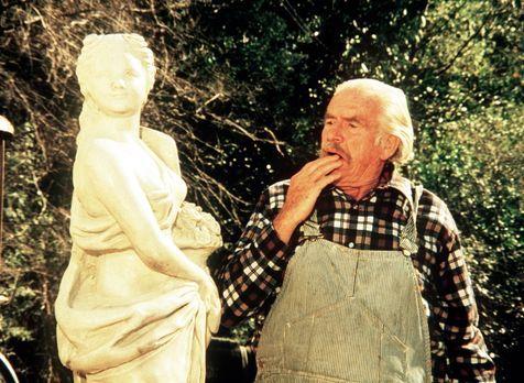 Die Waltons - Die Statue erinnert Großvater Sam (Will Geer) an seine Jugendli...