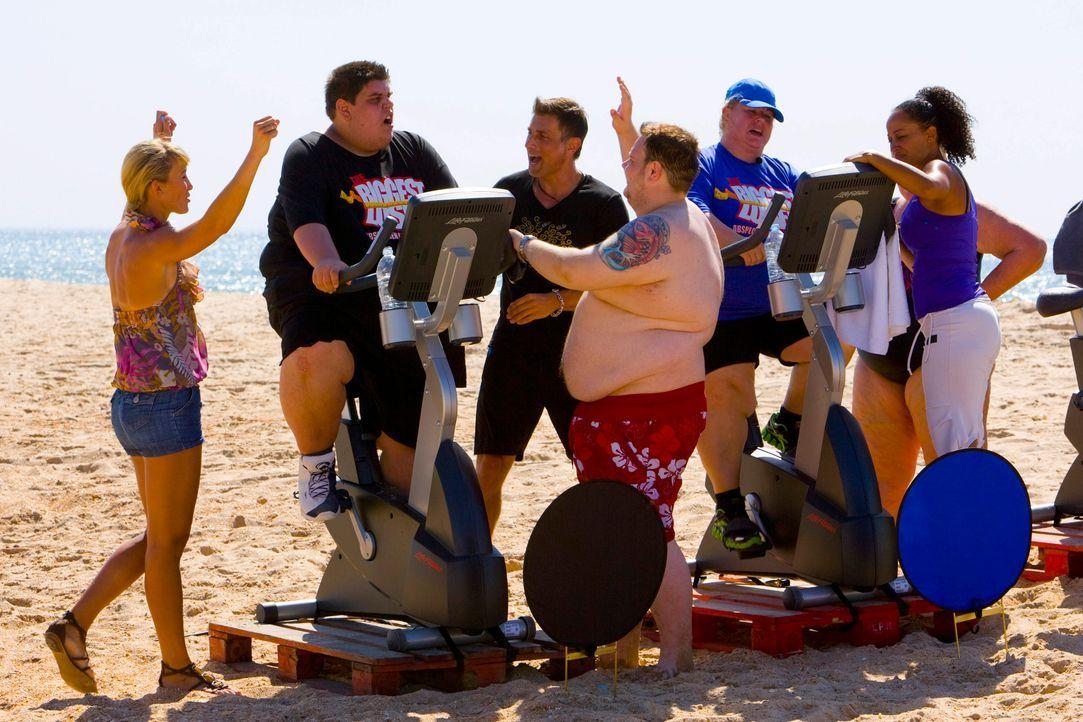 The-Biggest-Loser-Mini-Triathlon-Folge1-0007 - Bildquelle: SAT.1/Enrique Cano