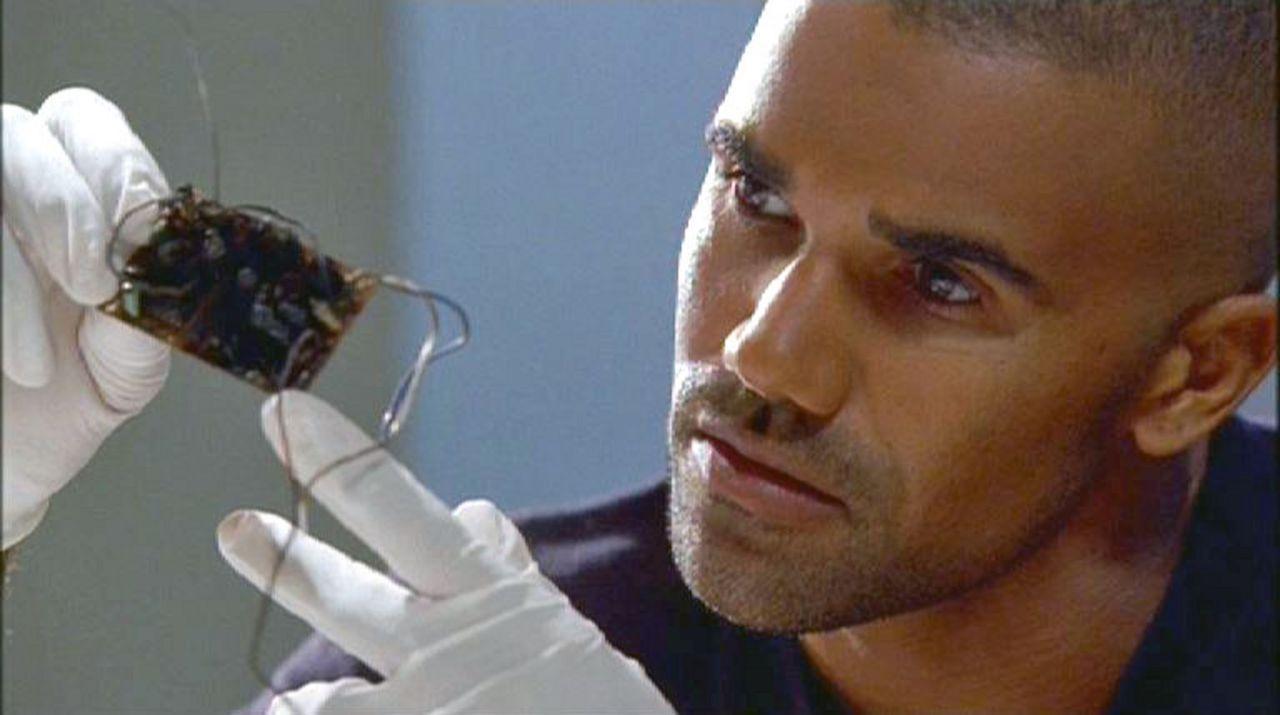 Special Agent Derek Morgan (Shemar Moore) inspiziert eine gefundene Rohrbombe des Attentäters. - Bildquelle: Touchstone Television