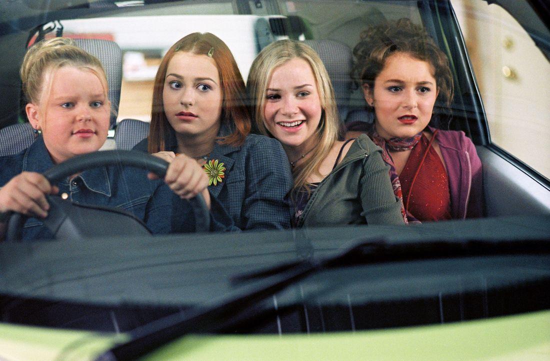 Eine andere Mädchenclique fordert Julie (Alexa Vega, r.) und ihre Freundinnen Hannah (Mika Boorem, 2.v.r.), Farrah (Scout Taylor-Compton, 2.v.l.) u... - Bildquelle: 2004 METRO-GOLDWYN-MAYER PICTURES INC. ALL RIGHTS RESERVED.
