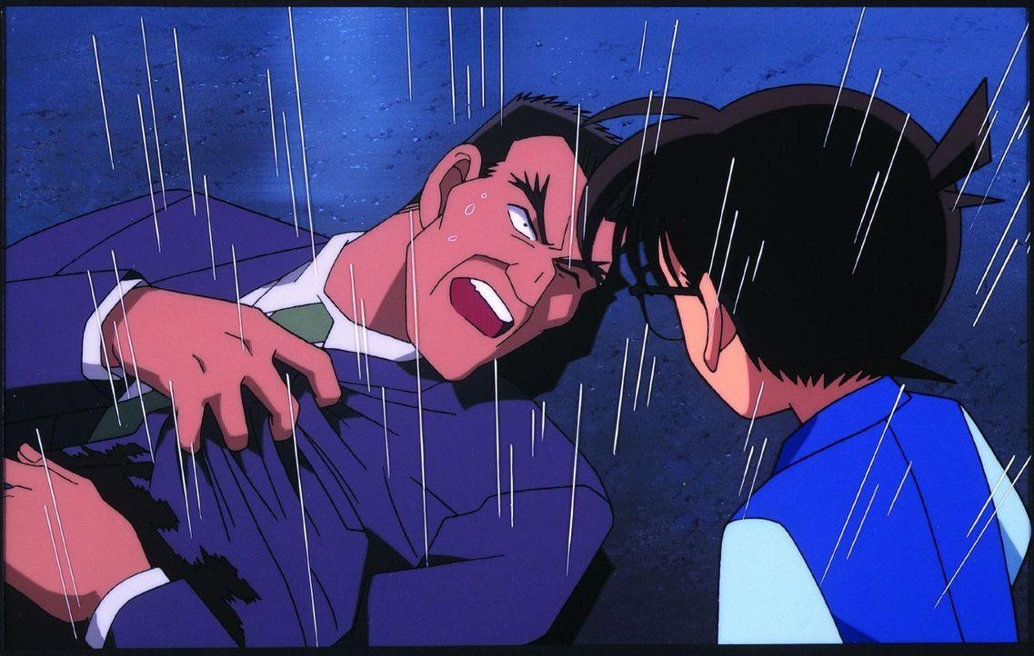 Als Conan (r.), Familie Mori und Sonoko auf einer Feier sind, wird Kommissarin Sato vor Rans Augen erschossen, wodurch Ran nun auch in Lebensgefahr... - Bildquelle: 2000 GOSHO AOYAMA / SHOGAKUKAN - YTV - UNIVERSAL MUSIC - ShoPro - TOHO - TMS. All Rights Reserved. Under License to VIZ Media Switzerland SA. Animat