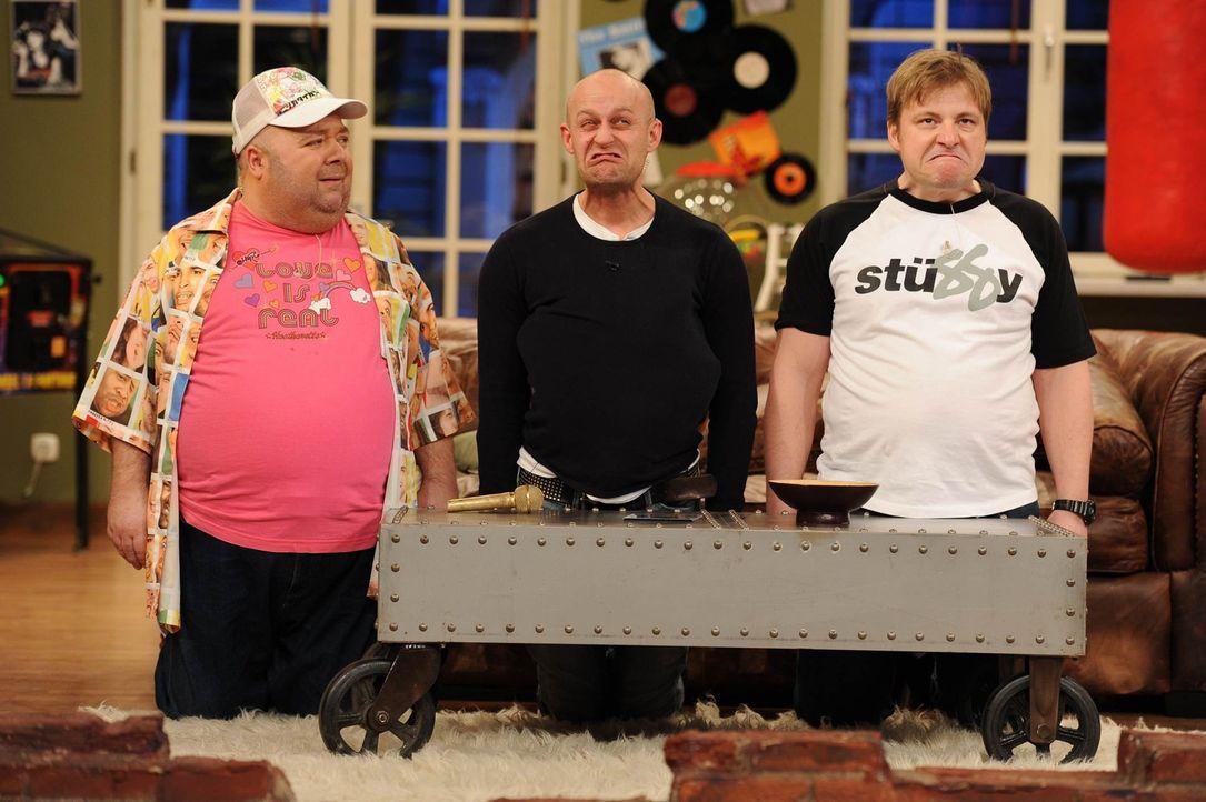 Was haben Dirk (l.), Jürgen (M.) und Klempe (r.) nur vor? - Bildquelle: Willi Weber SAT.1