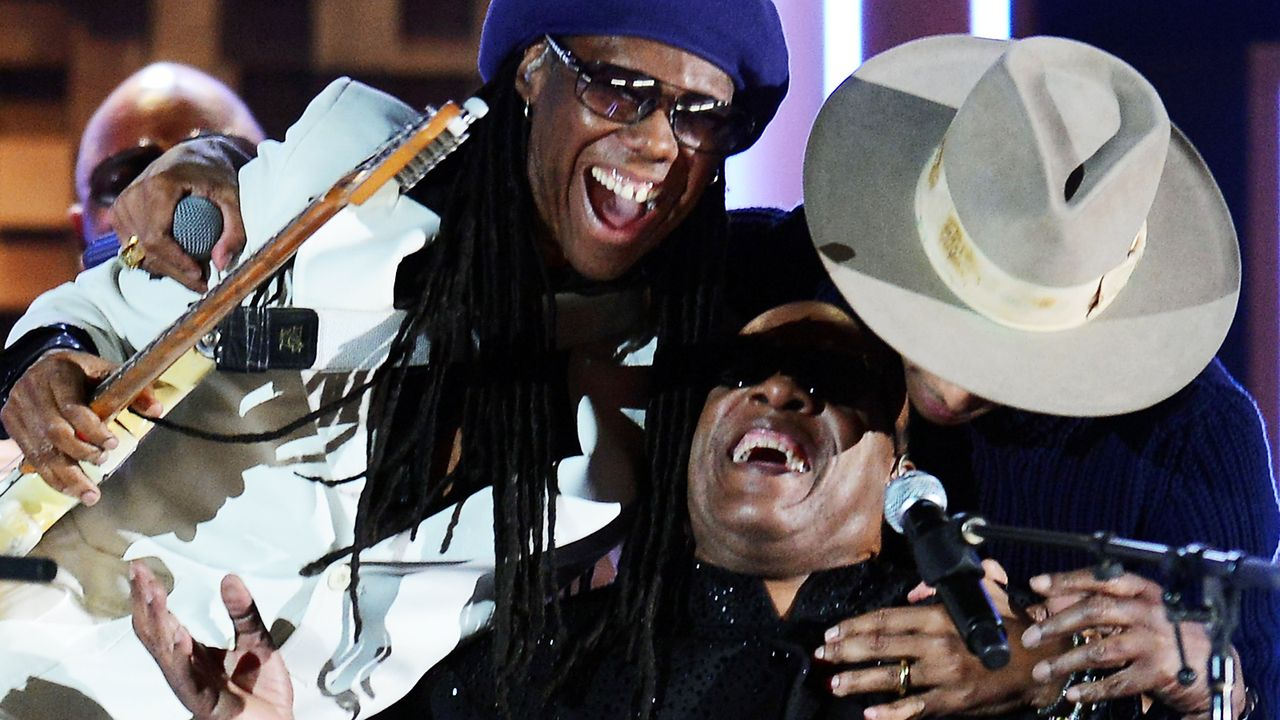 Grammy-Awards-Pharrell-Williams-Nile-Rodgers-Stevie-Wonder-14-01-26-AFP - Bildquelle: AFP