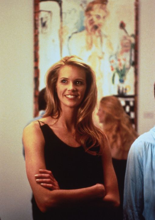 Die schöne Jane (Elle Macpherson) ist tatsächlich zu Joes Vernissage gekommen. Und sie scheint ihn anziehend zu finden ... - Bildquelle: 1996 TriStar Pictures, Inc. All Rights Reserved.