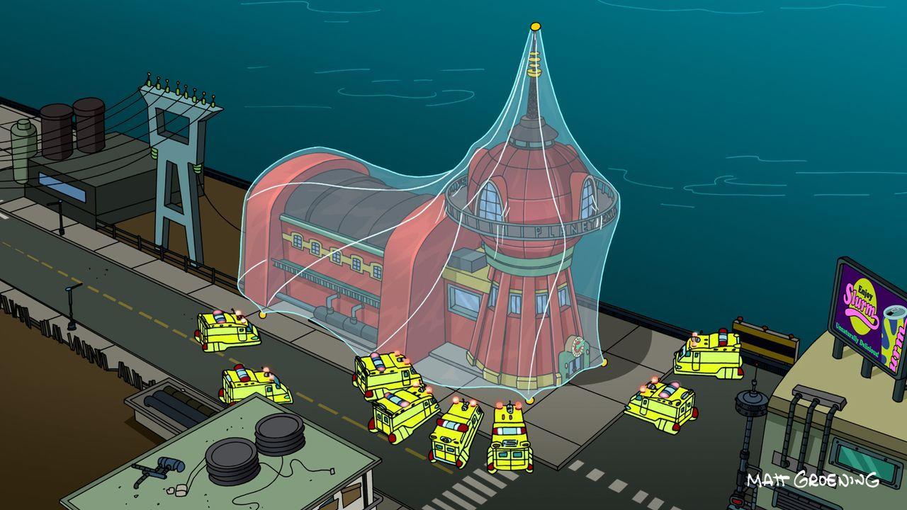 Als Fry eine Erkältung bekommt, wird das Planet-Express-Team kurzerhand unter Quarantäne gestellt - mit gutem Grund ... - Bildquelle: 2011 Twentieth Century Fox Film Corporation. All rights reserved.