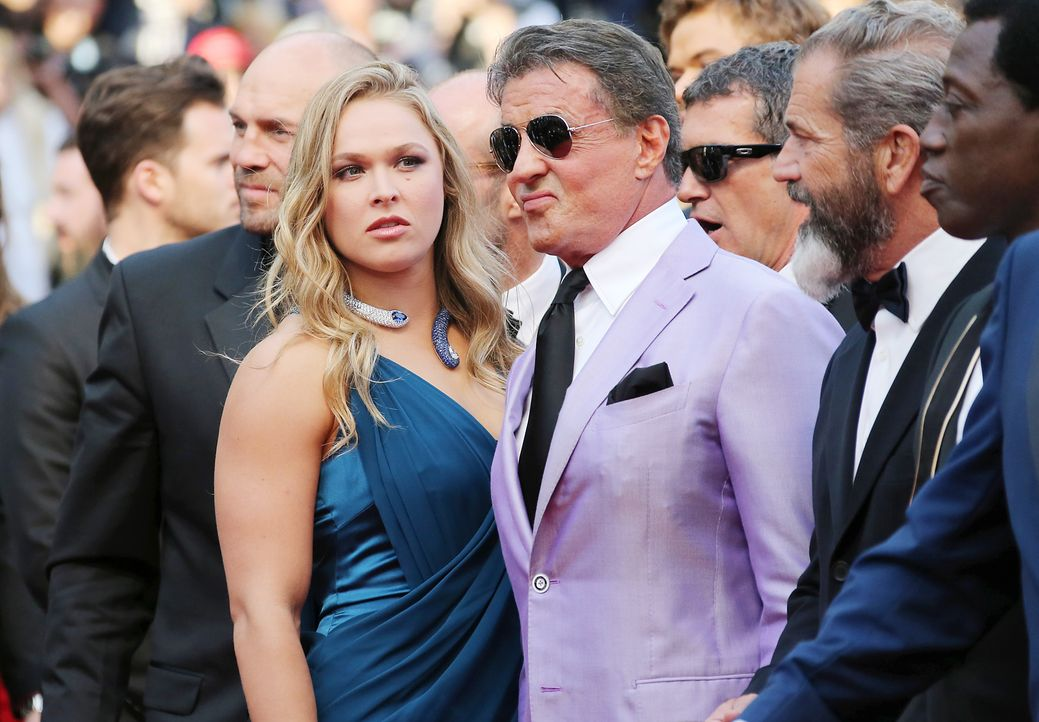 Cannes-Filmfestival-Sylvester-Stallone-Ronda-Rousey-140518-AFP - Bildquelle: AFP