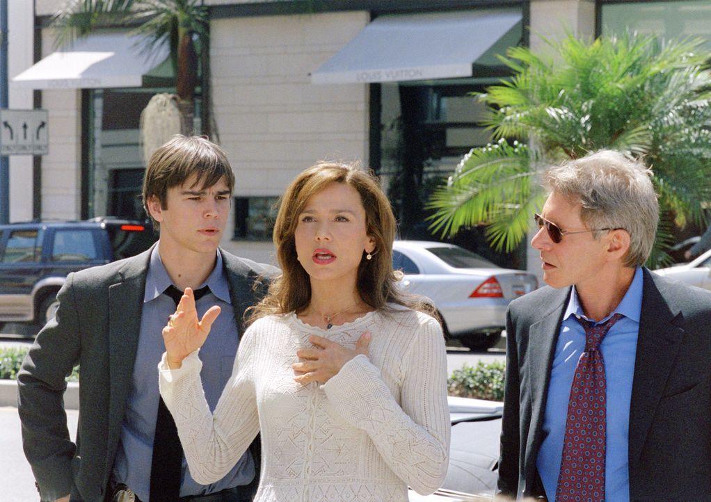 Ermittlungsstress: (v.l.n.r.) K.C. (Josh Hartnett), Ruby (Lena Olin) und Gavilan (Harrison Ford) ... - Bildquelle: 2003 Sony Pictures Television International. All Rights Reserved.