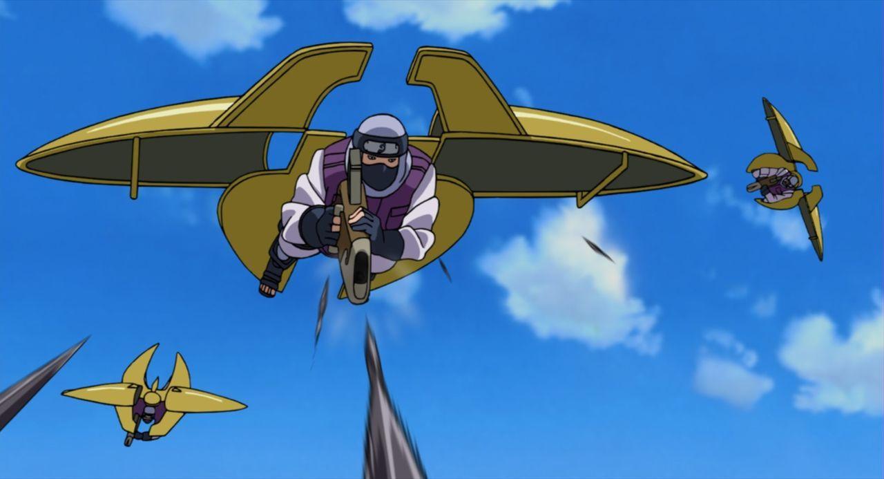 Als plötzlich wie aus dem Nichts das Dorf Konoha, in dem Naruto und seine Freunde leben, von einer Gruppe unbekannter Ninjas überfallen wird, müssen... - Bildquelle: 2002 MASASHI KISHIMOTO /2007 Shippuden   NMP 2008