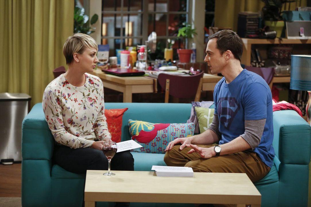 Nehmen als Scherz an einem Experiment teil, durch das sich die Teilnehmer ineinander verlieben sollen: Penny (Kaley Cuoco, l.) und Sheldon (Jim Pars... - Bildquelle: Warner Bros. Television