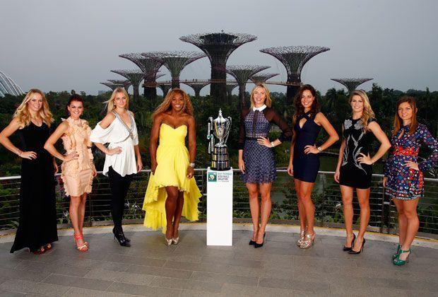 Die Teilnehmerinnen des WTA-Masters in Singapur - Bildquelle: Getty