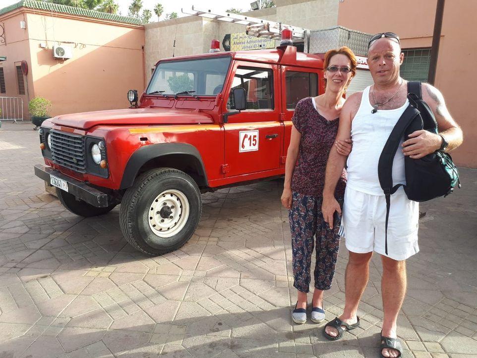 Das rheinländische Ehepaar Bianka (l.) und Ralf (r.) darf ins marokkanische Marrakesch reisen. - Bildquelle: kabel eins