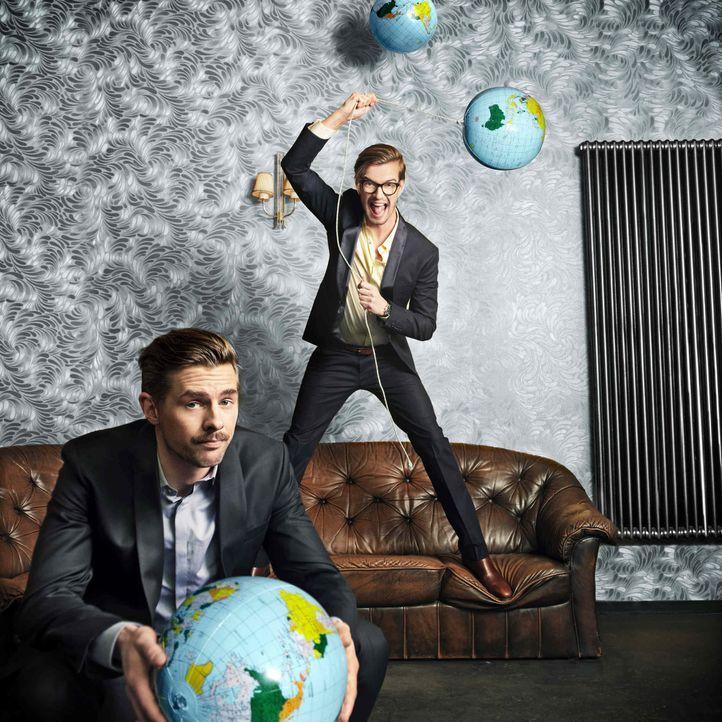 Joko (r.) gegen Klaas (l.) - Das Duell um die Welt: Wer wird das Rennen machen? - Bildquelle: Arne Weychardt ProSieben