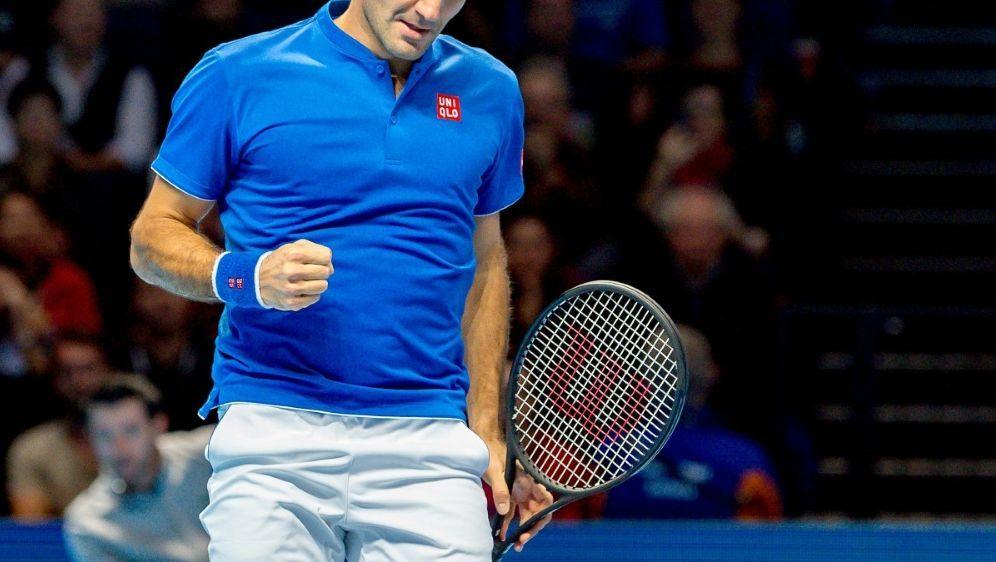 Tennis-Star Roger Federer lässt Coric keine Chance - Bildquelle: FIRO SPORTPHOTOFIRO SPORTPHOTOSID