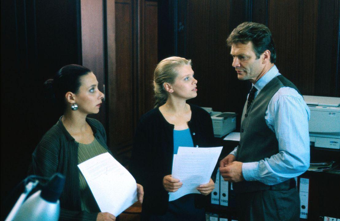 Neubeginn für Natalie: Durch Karina (Sandra Cervik, l.) lernt Natalie (Anne Sophie Briest, M.) Anwalt Cramer (Alexander Strobele, r.) kennen, bei d... - Bildquelle: Sat.1