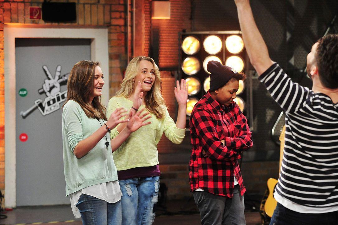 The-Voice-Kids-Stf02-Epi07-Jamica-Nadine-Sarah-4-SAT1-Andre-Kowalski - Bildquelle: SAT.1/Andre Kowalski