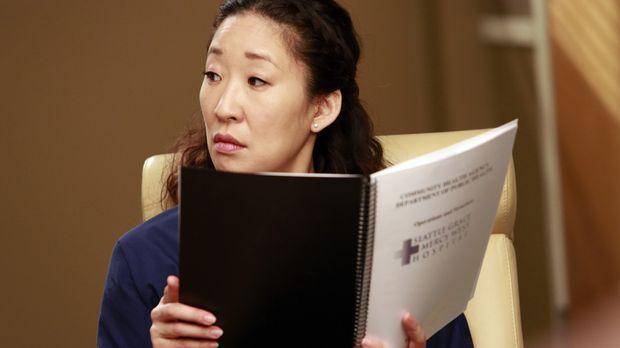 Dr. Christina Yang (Sandra Oh) will die Neubesetzung des Chefarztpostens verh...
